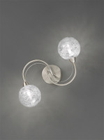 Franklite FL2327/2 Gyro 2 Light Ceiling Light or Wall Light Satin Nickel