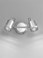 Franklite SPOT8942 Studio 2 Light LED Spotlight Bar Polished Chrome