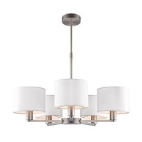 E3160257 5 Light Ceiling Light Matt Nickel