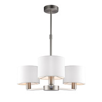 E3160256 3 Light Ceiling Light Matt Nickel