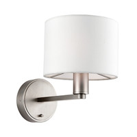 E3161608 1 Light Wall Light Matt Nickel