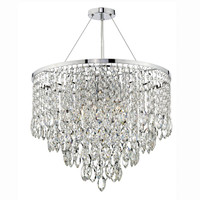 DAR PES0550 Pescara 5 Light Chrome Pendant