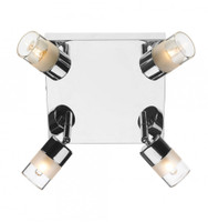 Dar ART8550 Artemis 4 Light Bathroom Ceiling Light Chrome