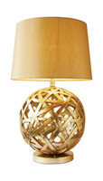 Dar BAL4263 Balthazar Antique Gold Table Lamp