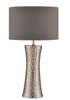 Dar BOK4232/X Bokara Polished Silver Table Lamp