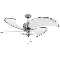 Fantasia SPINNAKER 114802 Stainless Steel with White blades 52""
