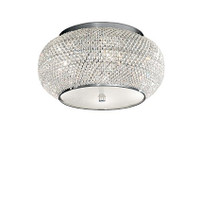 IDEALLUX 100784 Pasha PL6 6 Light Flush Chrome