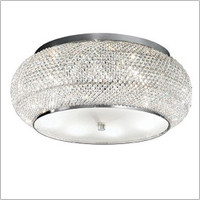 IDEALLUX 100746 Pasha PL10 10 Light Flush Chrome