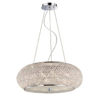 IDEALLUX 082196 Pasha SP10 10 Light Pendant Chrome