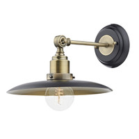 Dar HAN0754 Hannover Wall light Antique Brass/Black
