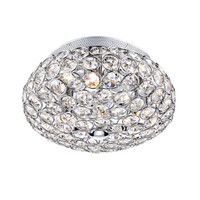 Dar FRO5350 FROST Crystal Chrome Ceiling Light