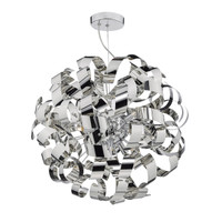DWAR101355 MEDUSA 9 Light Ribbon Ball Pendant Polished Chrome
