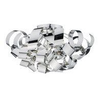 38348 MEDUSA 5 Light Ceiling Light Polished Chrome