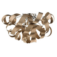 38350 MEDUSA 5 Light Ceiling Light Brushed Satin Copper