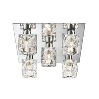S9122755 Ice Cube 5 Light Ceiling Light Polished Chrome