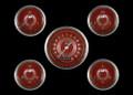 V8 Red Steelie Series Five Gauge Set - Classic Instruments - V8RS00SHC