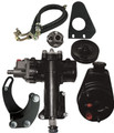 "Borgeson Power Steering Conversion Kit - Chevy P/S Kit, 1955-1957 Chevy with 1""DD Column & SBC/LWP"