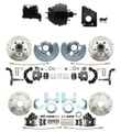 DBK6272834LX-BCK8536-1  - 1966-1970 B Body Front & Rear Disc Brake Conversion Drilled & Slotted Rotor Kit & O.E.M. Booster Conversion w/ Casting Numbers