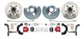 DBK6272LXR - 1962-1972 Mopar B&E High Performance Disc Brake Conversion Kit w/ Red Powder Coated Calipers