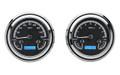 1947-53 Chevy GMC Truck Gauges - Black Alloy Face - Blue Display - Dakota Digital