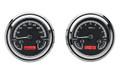 1947-53 Chevy GMC Truck Gauges - Black Alloy Face - Red Display - Dakota Digital