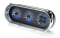1963-65 Chevy Nova VHX Gauges - Carbon Fiber Face - Blue Display - Dakota Digital