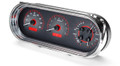 1963-65 Chevy Nova VHX Gauges - Carbon Fiber Face - Red Display - Dakota Digital
