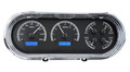 1963-65 Chevy Nova VHX Gauges - Black Alloy Face - Blue Display - Dakota Digital
