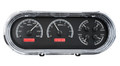 1963-65 Chevy Nova VHX Gauges - Black Alloy Face - Red Display - Dakota Digital