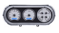 1963-65 Chevy Nova VHX Gauges - Silver Alloy Face - Blue Display - Dakota Digital