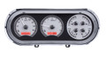 1963-65 Chevy Nova VHX Gauges - Silver Alloy Face - Red Display - Dakota Digital