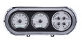 1963-65 Chevy Nova VHX Gauges - Silver Alloy Face - White Display - Dakota Digital