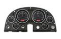 1963-67 Chevy Corvette VHX Gauges - Black Alloy Face - Red Display  - Dakota Digital