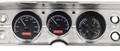 1964-65 Chevy Chevelle / El Camino VHX Gauges - Black Alloy Face - Red Display - Dakota Digital