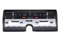 1966-69 Lincoln Continental VHX Gauges - Black Alloy Face - Red Display - Dakota Digital