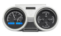 1966-67 Oldsmobile Cutlass VHX Gauges - Black Alloy Face - Blue Display - Dakota Digital