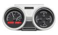 Dakota Digital 1966-67 Oldsmobile Cutlass VHX Gauges - Black Alloy Face - Red Display