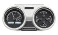 1966-67 Oldsmobile Cutlass VHX Gauges - Black Alloy Face - White Display - Dakota Digital