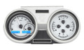 1966-67 Oldsmobile Cutlass VHX Gauges - Silver Alloy Face - Blue Display - Dakota Digital