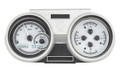 1966-67 Oldsmobile Cutlass VHX Gauges - Silver Alloy Face - White Display - Dakota Digital