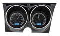 1967-68 Camaro Firebird VHX Gauges - Black Alloy Face - Blue Display - Dakota Digital