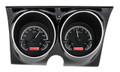 1967-68 Camaro Firebird VHX Gauges - Black Alloy Face - Red Display - Dakota Digital