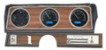 1970-72 Oldsmobile Cutlass VHX Gauges - Black Alloy Face - Blue Display - Dakota Digital