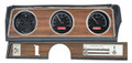 1970-72 Oldsmobile Cutlass VHX Gauges - Black Alloy Face - Red Display - Dakota Digital