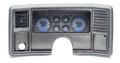 1978-88 Monte Carlo/El Camino/Malibu/Caballero VHX Gauges - Carbon Fiber Face - Blue Display - Dakota Digital