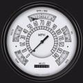 White Six Pack w/Black Bezel - Classic Instruments - SX01WBLF