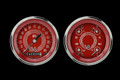 V8 Red Steelie Series Two Gauge Set - Classic Instruments - V8RS02SHC