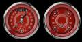V8 Red Steelie Series Two Gauge Set - Classic Instruments - V8RS32SHC