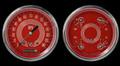 V8 Red Steelie Series Two Gauge Set - Classic Instruments - V8RS52SLC