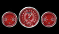 V8 Red Steelie Three Gauge Set - Classic Instruments - V8RS61SLC